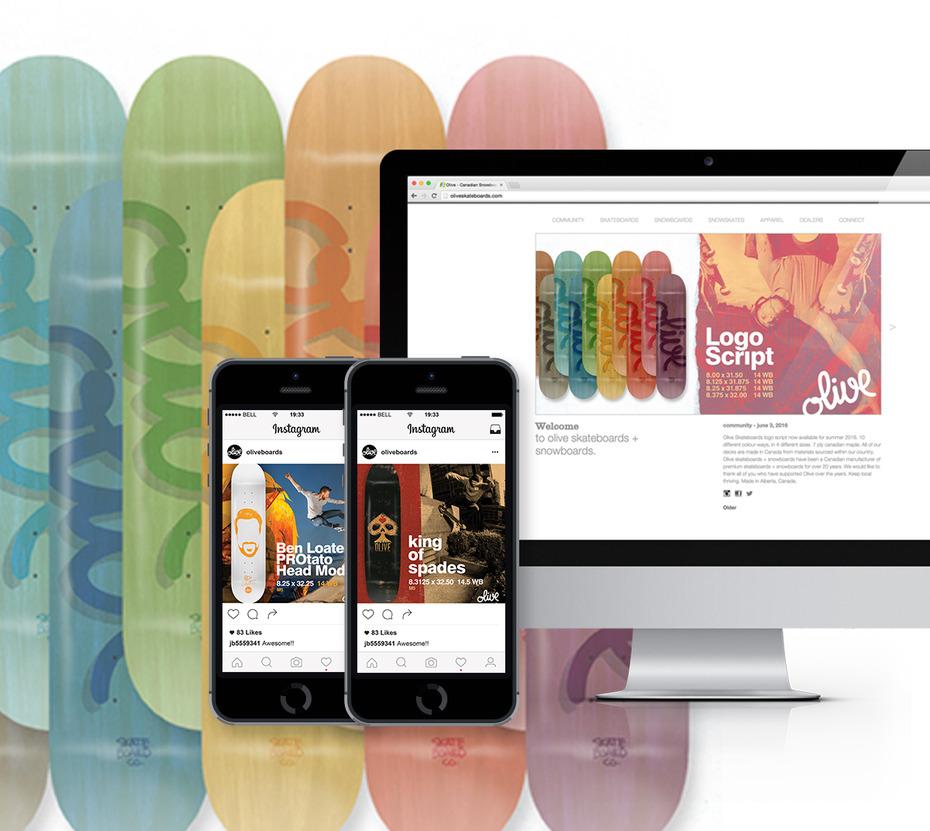 Oliveskate web